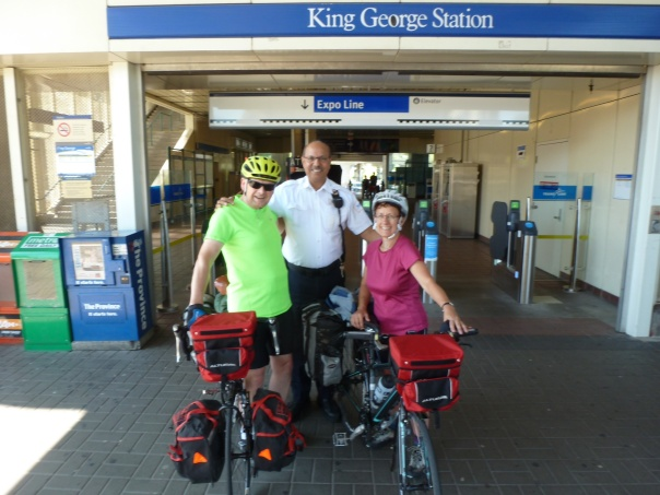 The start at Surrey King George Station